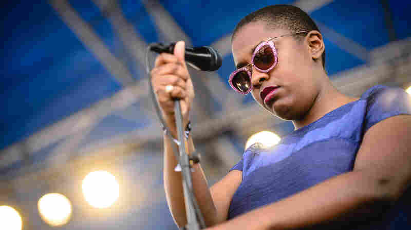 Cécile McLorin Salvant performed two sets at Newport, including one for a main-stage crowd on the festival's sunny opening day.