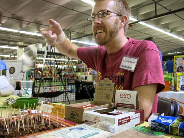 Robert Nathan Allen of theAustin, Tex.-based company Little Herds is a prominent advocate for eating insects in the U.S.