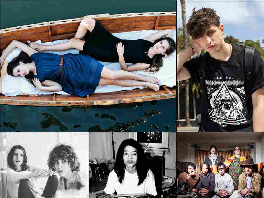 Clockwise from upper left: Lily & Madeleine, Porter Robinson, Fat White Family, Adia Victoria, Foxygen.