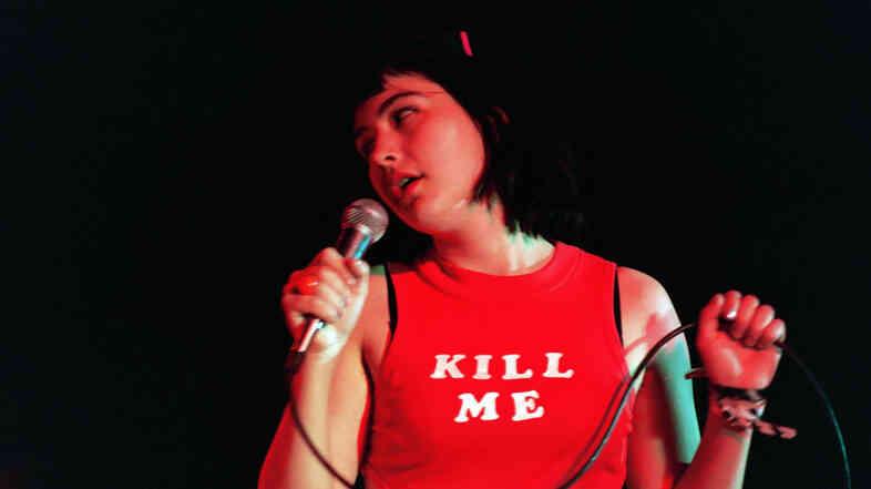 Bikini Kill's Kathleen Hanna in 1993.