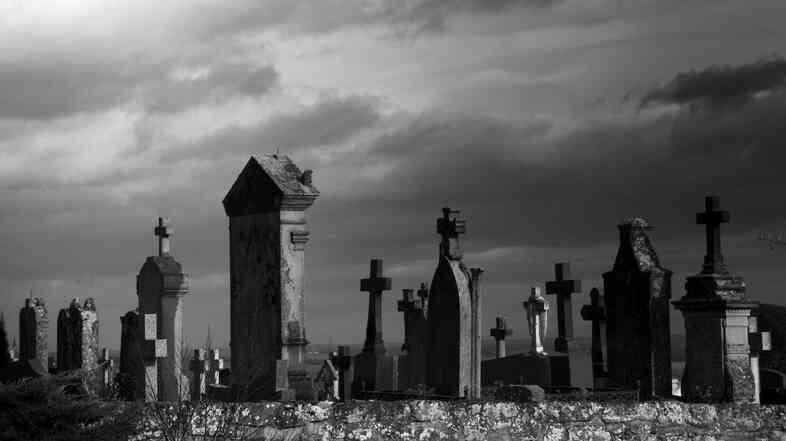A graveyard.