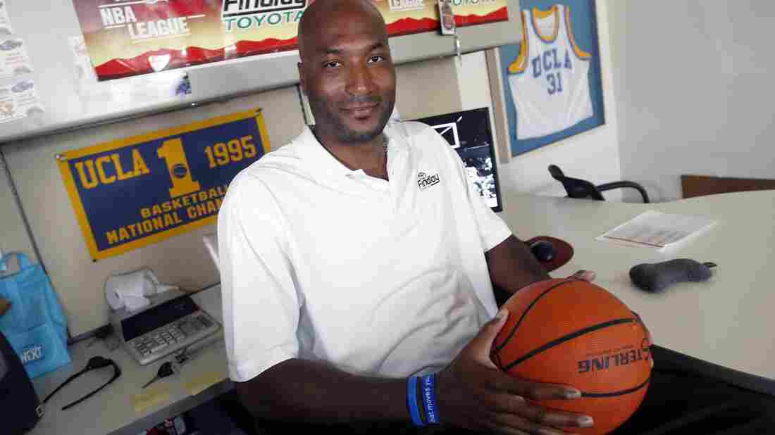 Former UCLA basketball player Ed O'Bannon, seen here in 2010, has won a court ruling in which the NCAA was told it can't forbid college athletes from being compensated for the use of their images and names.