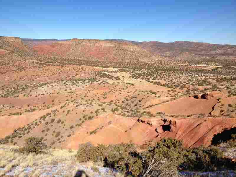 This is what New Mexico's northern desert normally looks like. Copper Canyon was a sea of burnt reds and browns in December 2013.