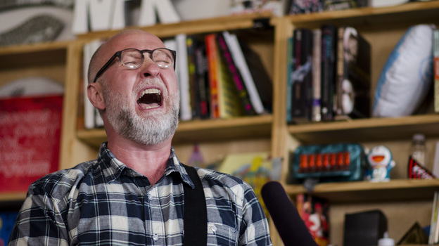Tiny Desk Concert with Bob Mould on June 16, 2014. (NPR)