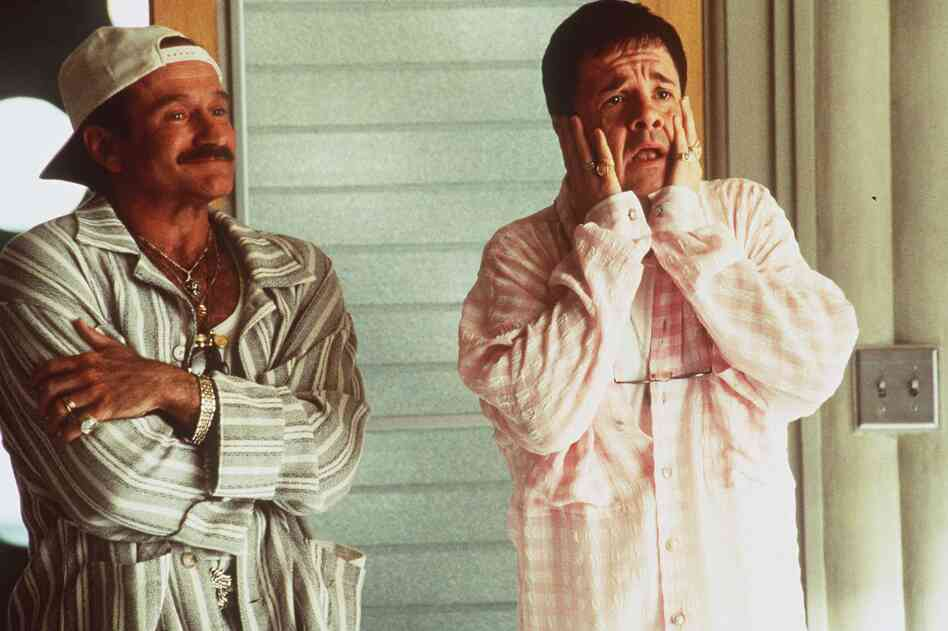 Williams and Nathan Lane played gay parents in the 1996 film The Birdcage, a remake of the French film La Cage aux Folles.