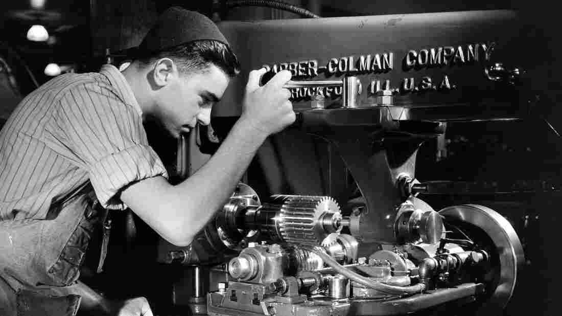 It was a great time to be an American man in the workplace after World War II. Hiring was strong for both white-collar jobs and factory work while industries like autos, aviation and steel were booming. By the 1960s, that started to change.