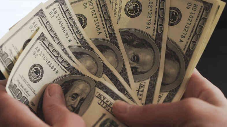 US hundred dollar bills