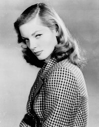 Bacall in 1944, when she first appeared on screen in To Have and Have Not.