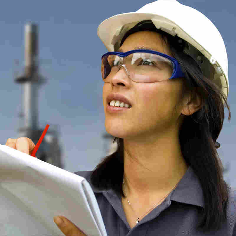 Respondents in a survey of women with engineering degrees said that many companies did not provide opportunities for women like them to advance and develop.