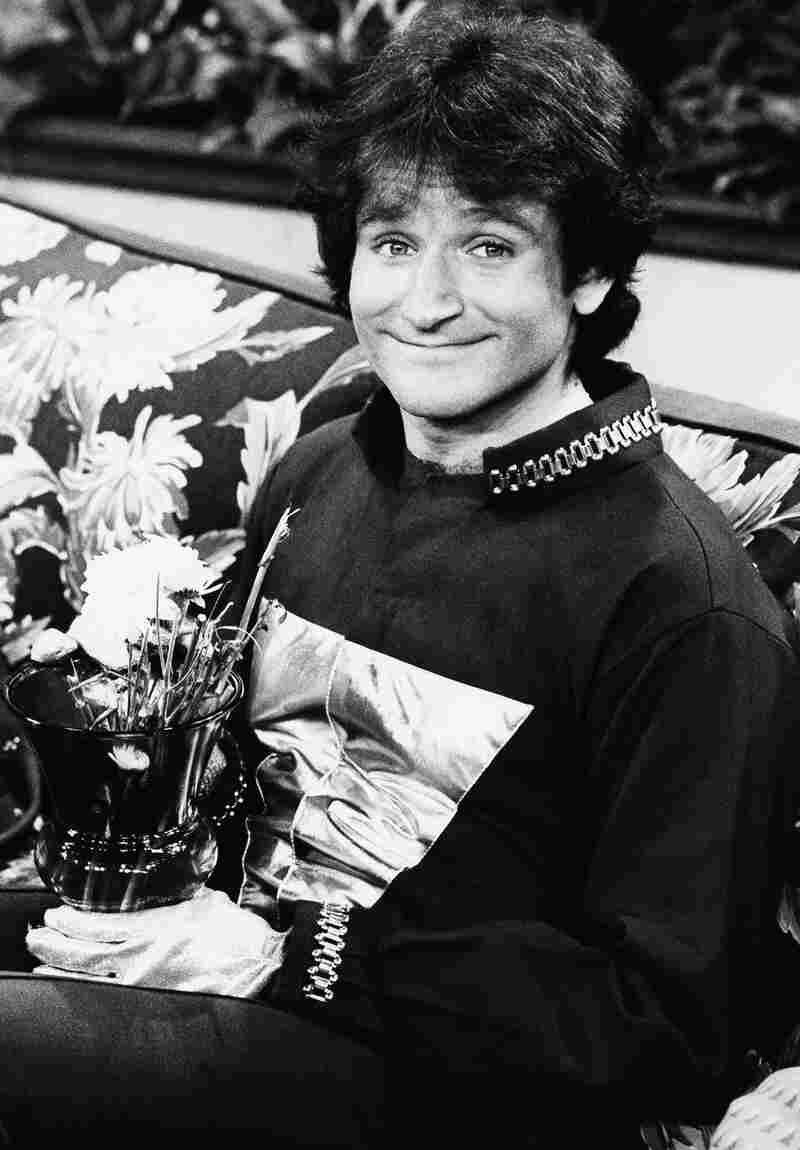 Robin Williams on the set of ABCs Mork & Mindy in April 1978.