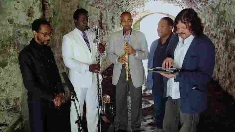 Brian Blade and the Fellowship Band. L-R: Blade, Myron Walden, Melvin Butler, Chris Thomas, Jon Cowherd.