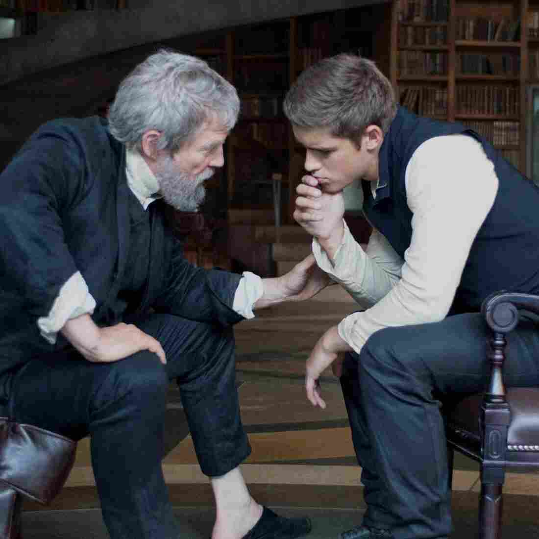 Jeff Bridges (left) produces and stars as the title character in The Giver, alongside Australian actor Brenton Thwaites, who plays Jonas, his young apprentice. The Giver is the first film rendition of the popular 1993 young adult novel by Lois Lowry.