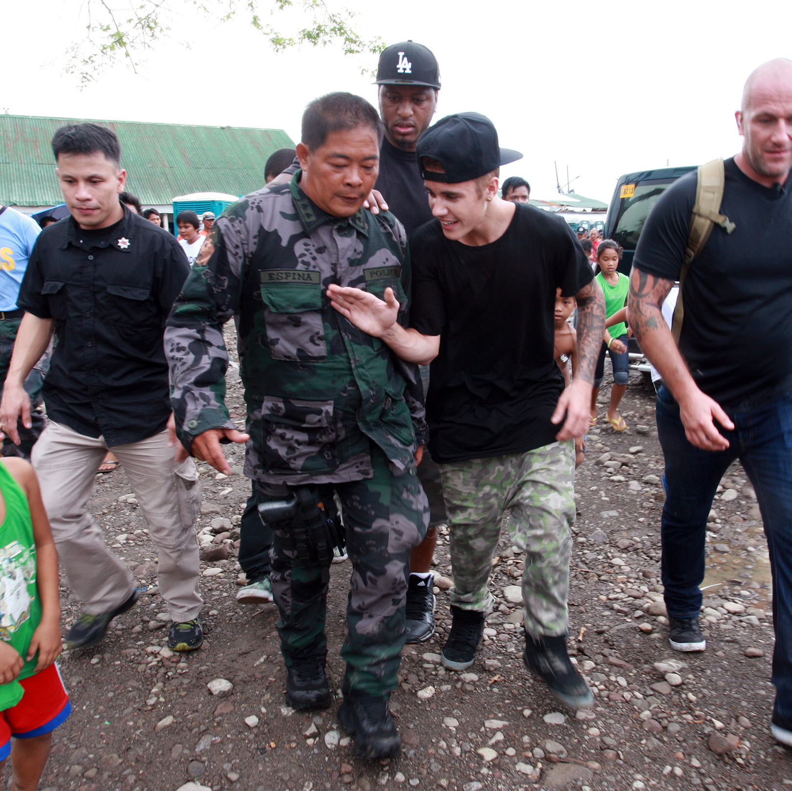 Justin Bieber may have a bad boy side, but the angelic Bieber launched a campaign to raise money for victims of Typhoon Haiyan, which struck the Philippines last year. Here, he visits a Filipino elementary school. And he took the Ice Bucket Challenge -- twice. And urged Beliebers to do the same.