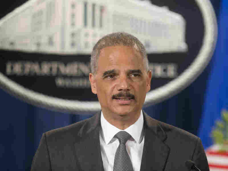 Attorney General Eric Holder at a July 14 press conference. On Thursday, Holder outlined the federal response to recent events in Ferguson, Mo.