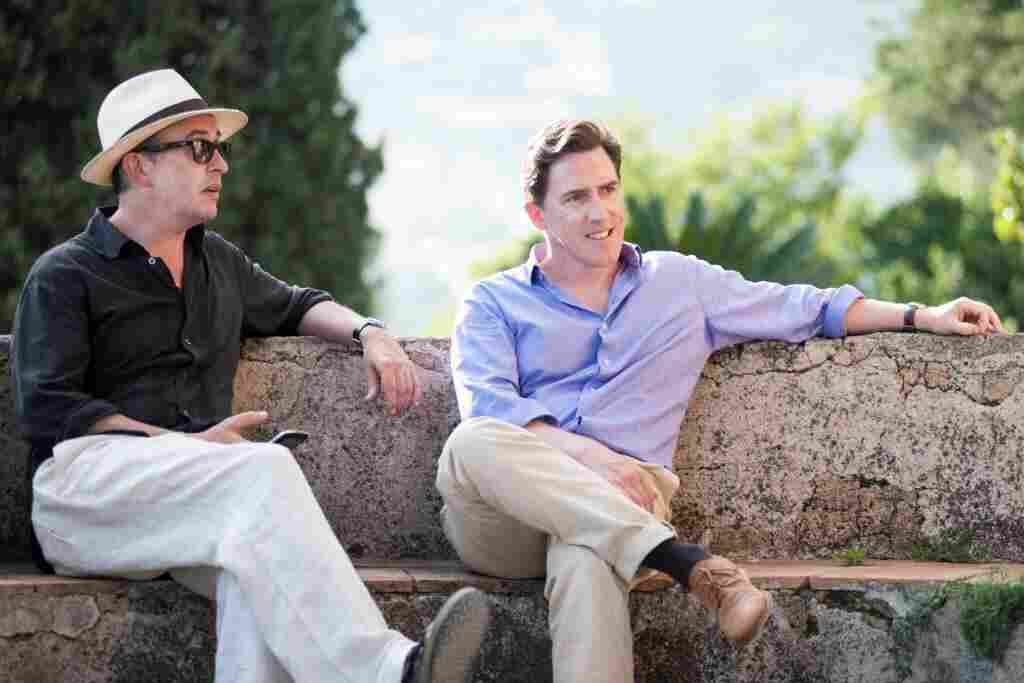 British comedian Steve Coogan (left), known for Night at the Museum and Philomena, and comic and impressionist Rob Brydon walk, talk and laugh in the new film The Trip to Italy, based in the Italian countryside. It's the sequel to The Trip.