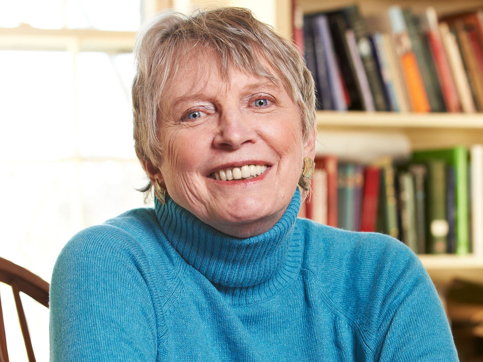 "Lois Lowry says she didn't think of <em>The Giver</em> as ""futuristic or dystopian or science fiction or fantasy"" — it was just a story about a kid making sense of a complicated world. (Matt McKee/Houghton Mifflin Harcourt)"