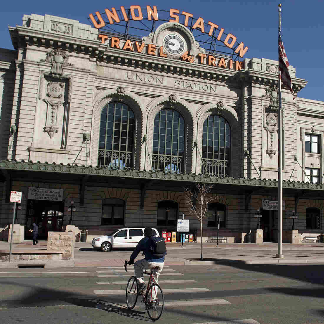 Denver's Union Station, which was remodeled to include restaurants, stores and a hotel, reopened last month.