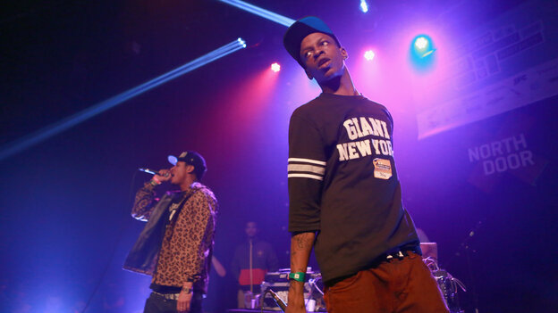 AK (left) and Issa of The Underachievers onstage at SXSW in 2013.