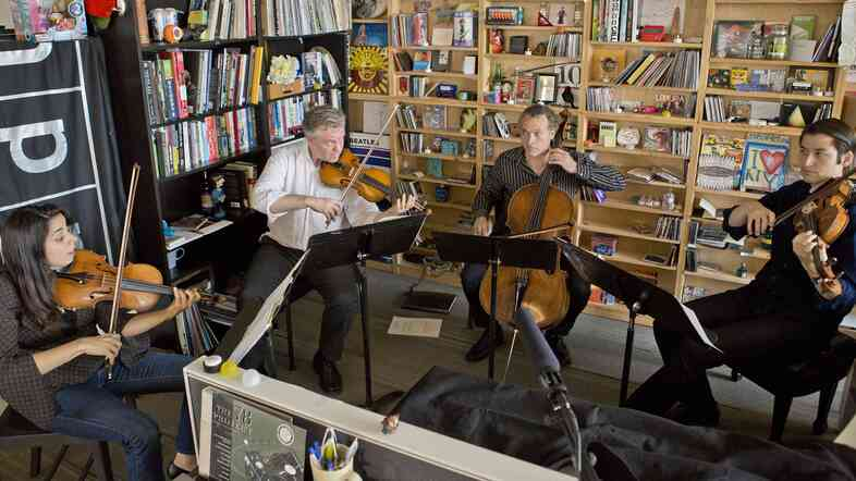 Pacifica Quartet performs a Tiny Desk Concert.