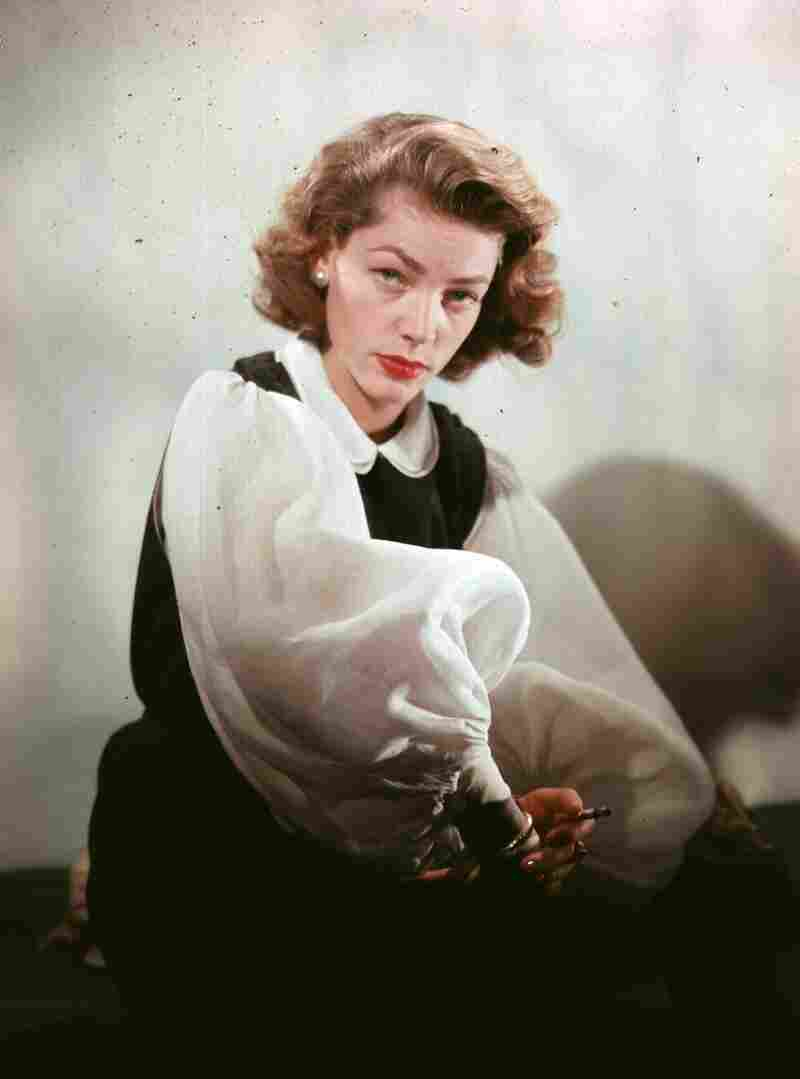 "Lauren Bacall says she never set out to have a look. ""It was just a way to keep my head steady,"" she insists."