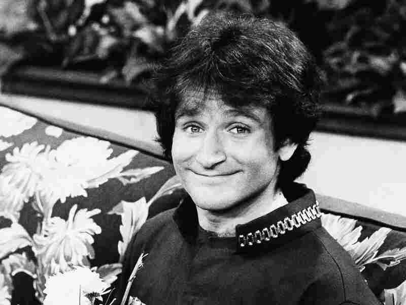 Actor Robin Williams, when he was Mork, in April 1978.