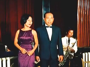 Cambodian psychedelic rock star Sinn Sisamouth (right) performs in the 1966 movie Apsara.