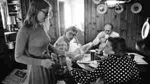 President Gerald Ford and First Lady Betty Ford, with Jack and Susan Ford at their Alexandra, Va. home on August 12, 1974. The Ford family lived there for ten days until the executive mansion was ready.