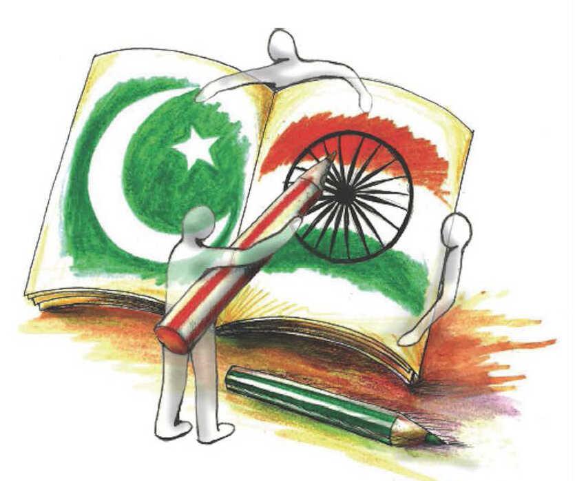 Pakistan and India illustration