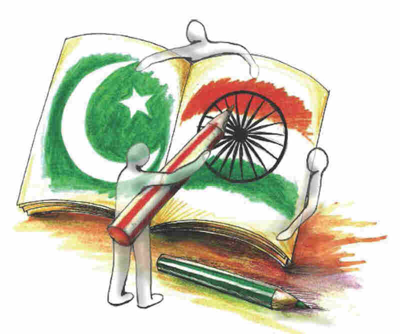 Pakistan and India illustration