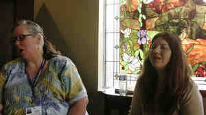 Tammy Heinsohn (left) and Carolyn Wilson s