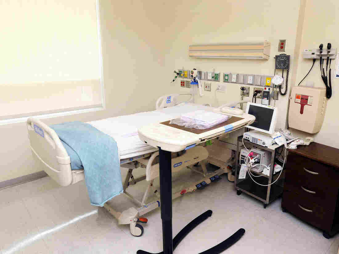 The two American Ebola patients are being cared for separately in rooms like this in the special isolation unit, known officially as the Serious Communicable Disease Unit, at Emory University Hospital.