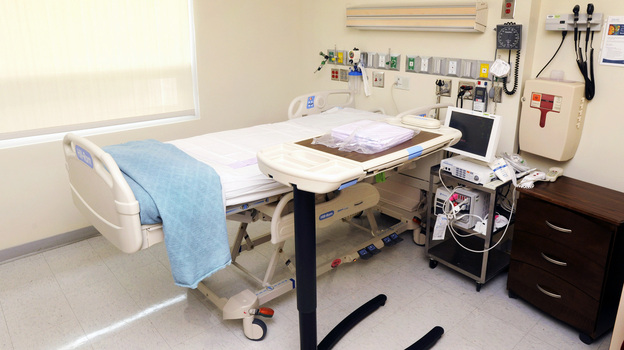 The two American Ebola patients are being cared for separately in rooms like this in the special isolation unit, known officially as the Serious Communicable Disease Unit, at Emory University Hospital. (Emory University Hospital)