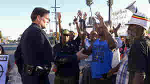 After Shooting, LAPD Uses Friendlier Face To Avoid Ferguson's Woes