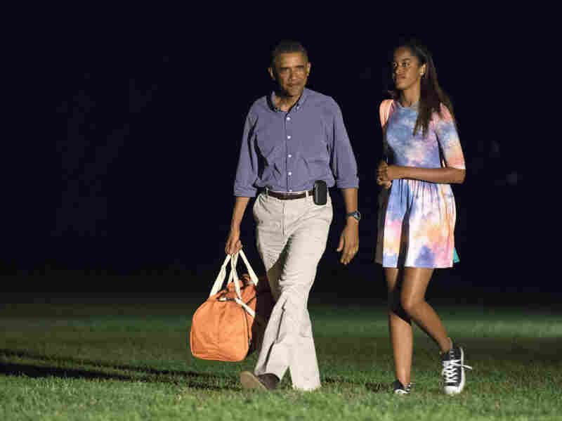 President Barack Obama and oldest daughter Malia return to the White House on Sunday. The president is taking a break from his Martha's Vineyard vacation to attend a series of meetings at the White House.