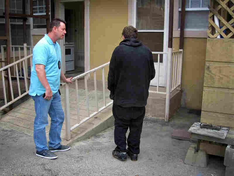 Officer Stevens responds to an emergency mental health call in regards to Mason, 24, at a group home in San Antonio.