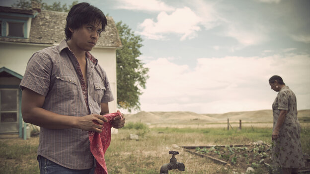 Chaske Spencer plays Virgil First Raise in the film adaptation of James Welch's Winter in the Blood.