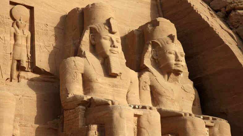 From the Abu Simbel temples in southern Egypt, dating back to the 13th century B.C.