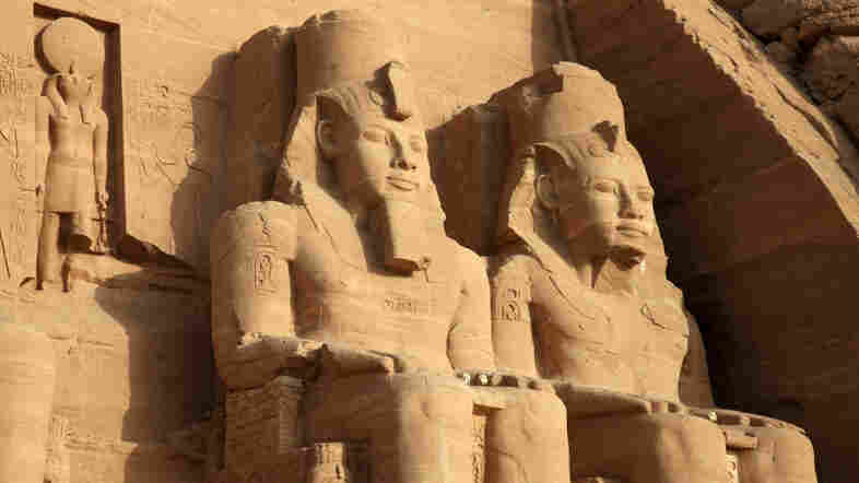 Egyptian Abu Simbel temples in southern Egypt from the 13th century B.C. Egypt was one of eight economic powerhouses of the late Bronze Age, but collapsed along with all the others.