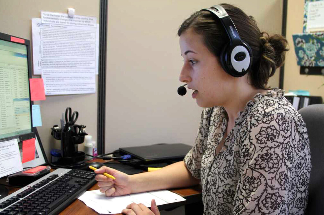 From her cubicle at Vital Decisions in Cherry Hill, N.J., Kate Schleicher counsels people who are seriously ill.