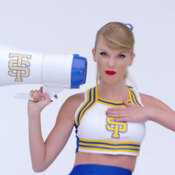 "A still from the video for ""Shake It Off"" by Taylor Swift."