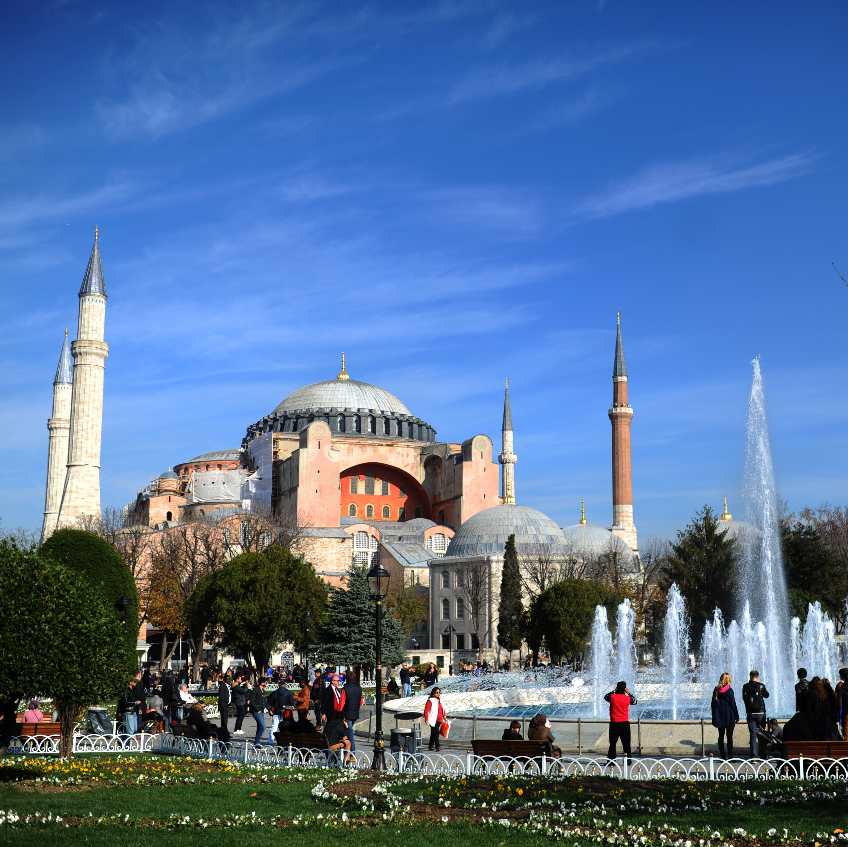 "The Hagia Sophia, or ""Church of Holy Wisdom,"" is one of Istanbul's most well-known Byzantine monuments."