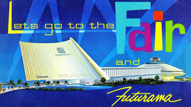 A brochure for Futurama, a World's Fair ride, that showcased dioramas of how the future might look