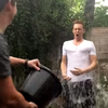 Tom Hiddleston takes the Ice Bucket Challenge. The actor is one of many stars taking part in the campaign to raise money for ALS.