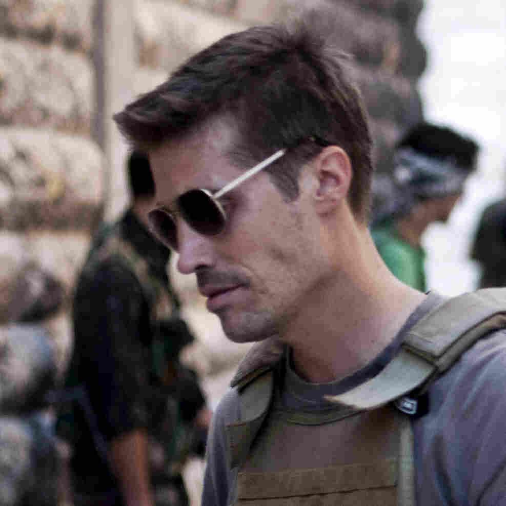 James Foley in Aleppo, Syria, in September 2012.