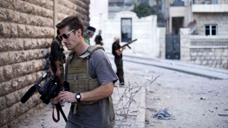 James Foley in Aleppo, Syria, in September 2012.