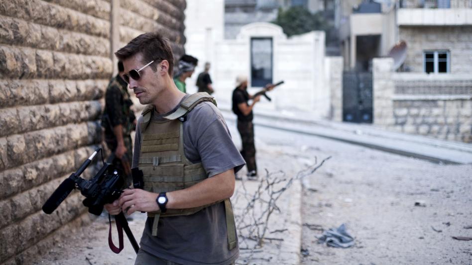 James Foley in Aleppo, Syria, in September 2012. (Manu Brabo/freejamesfoley.org/AP)