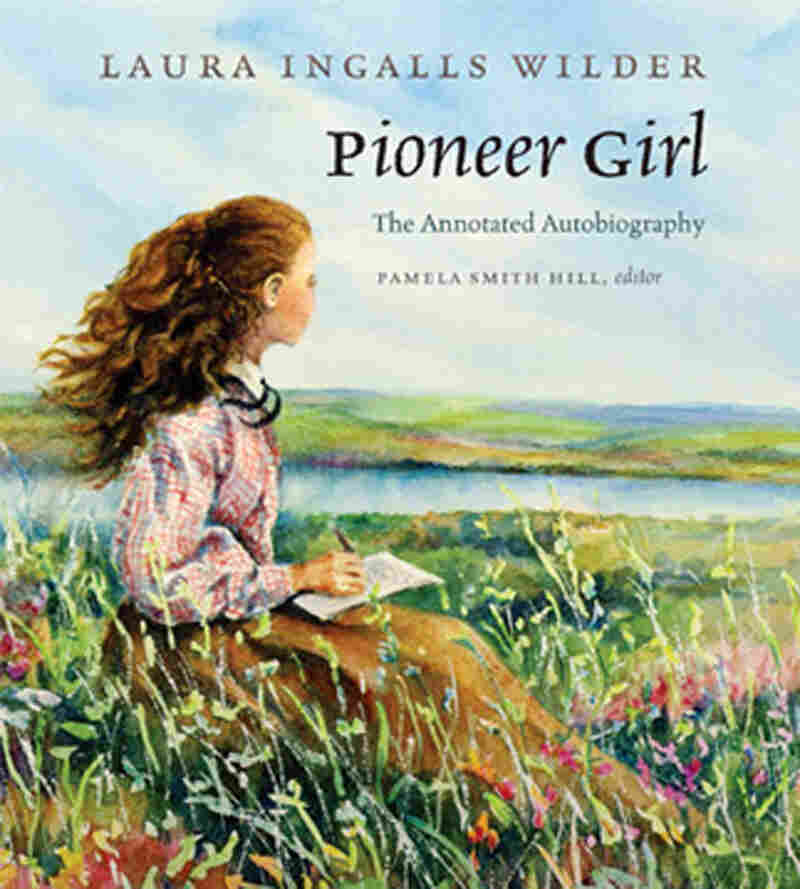 This image shows Judy Thompson's illustration of the cover of Pioneer Girl: The Annotated Autobiography.