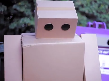 A cardboard robot looks for love in the school of hard knocks for a new short film from Maps.