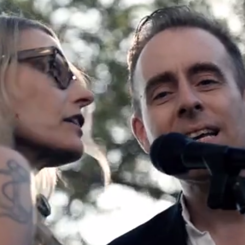 Aimee Mann and Ted Leo of The Both