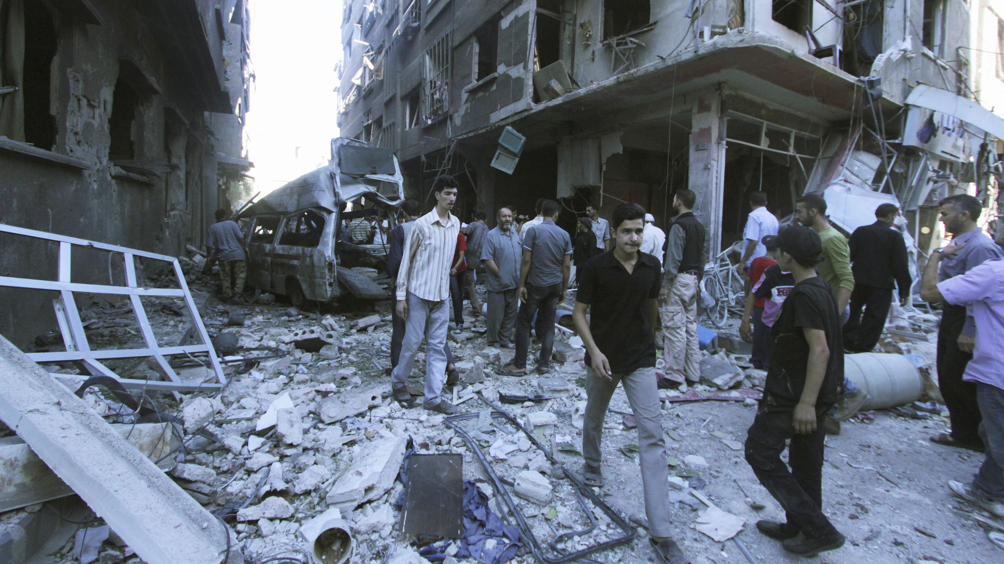 A Year Later, Syria's Chemical Weapons Are Gone, But Siege Remains